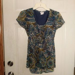 Oh Baby by Motherhood Maternity Top Size Small